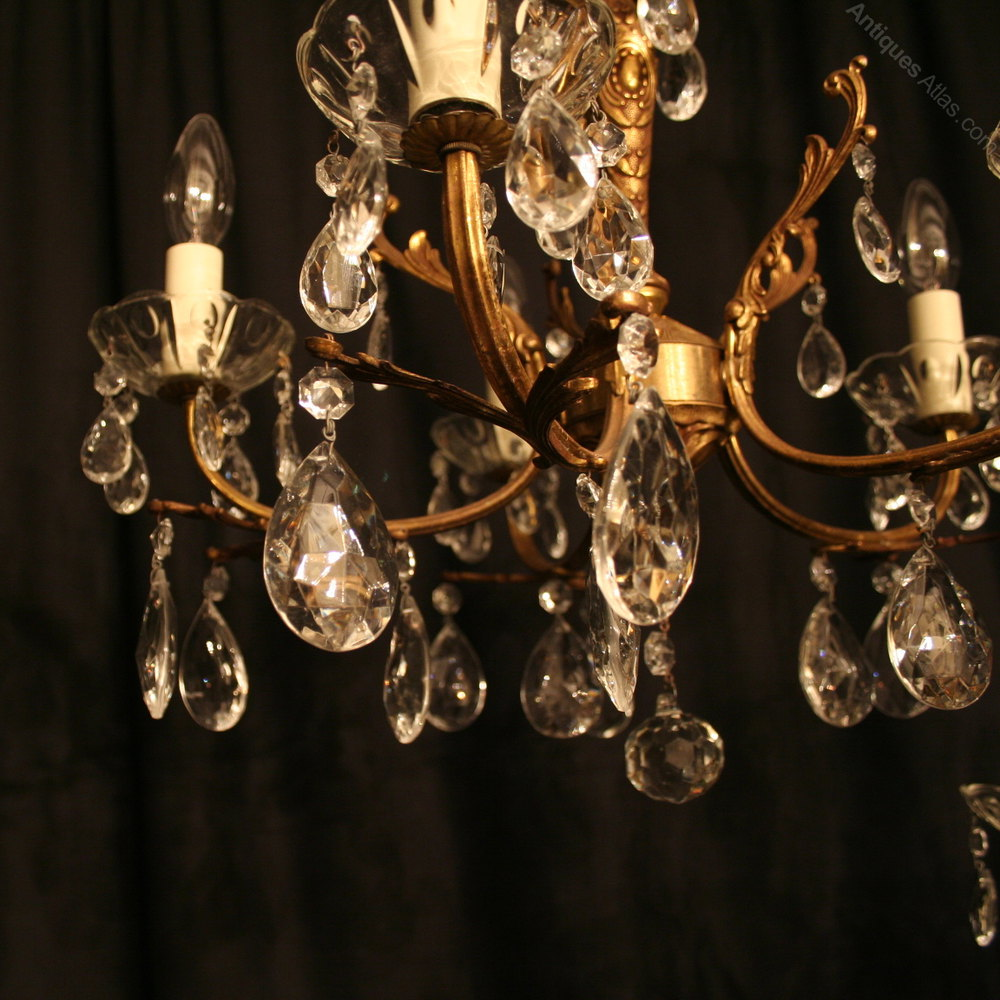 ... Antique Lighting, Antique Italian Chandeliers ... - Antiques Atlas - An Italian Pair Of 5 Light Antique Chandeliers