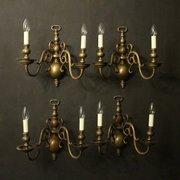 Spectacular  Antiques And Interiors Flemish Set Of Bronze Antiqu