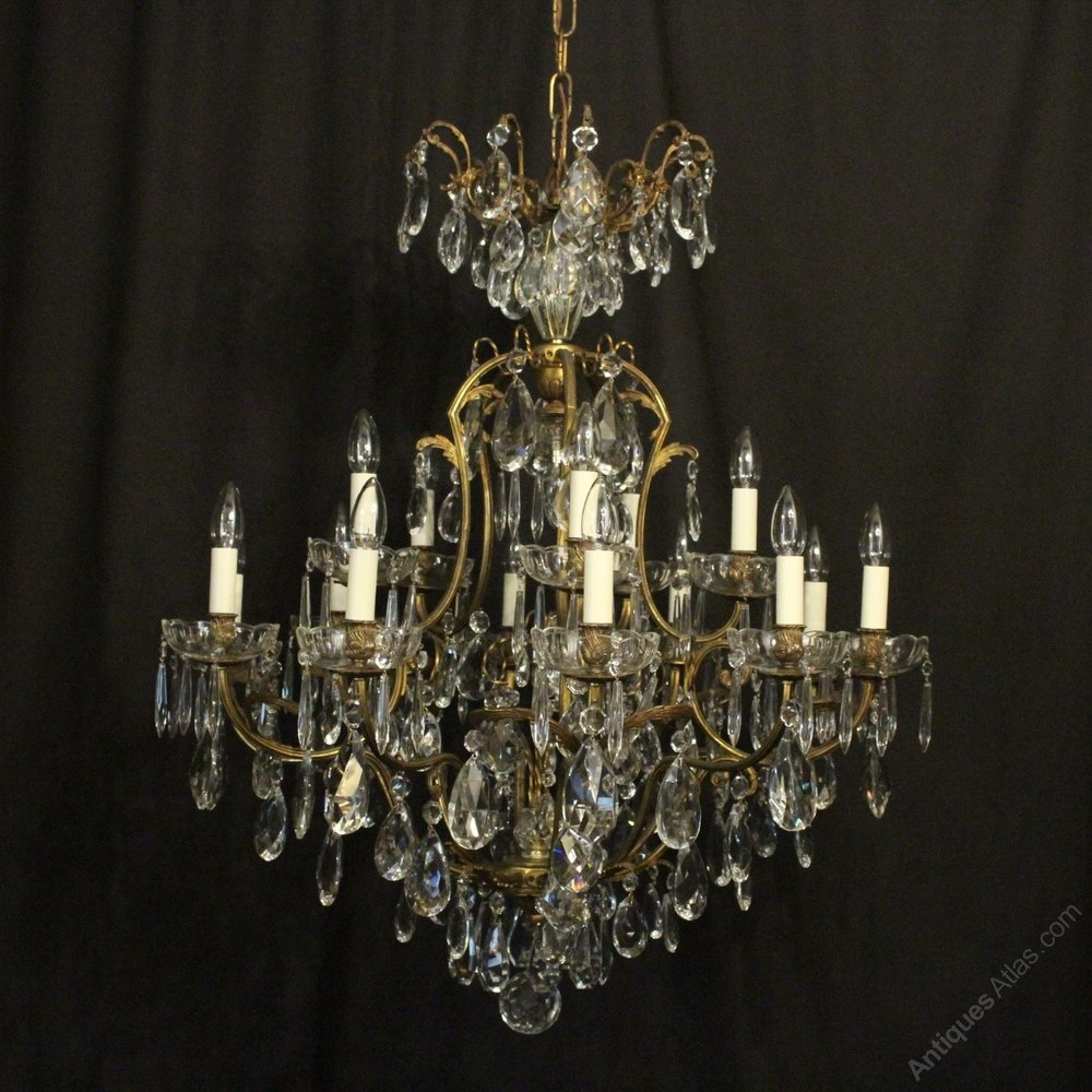 Fancy French Light Antique Cage Chandelier