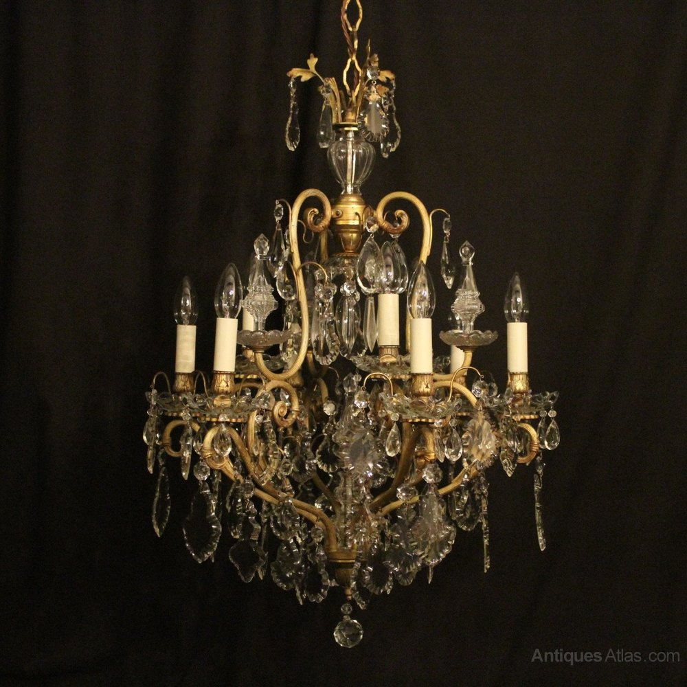Cute French Birdcage Light Antique Chandelier
