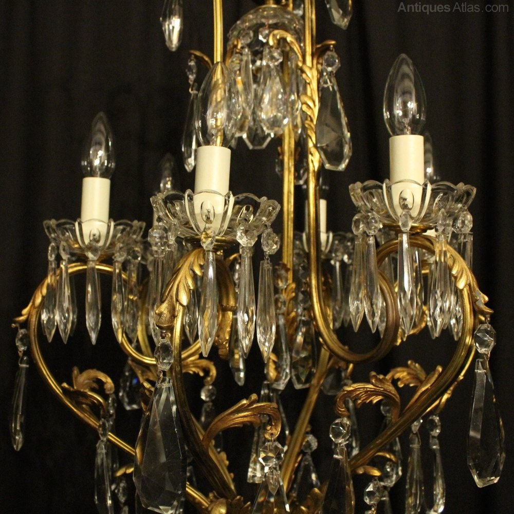 French Birdcage 7 Light Antique Chandelier Antique Lighting, Antique French  Chandeliers ... - Antiques Atlas - French Birdcage 7 Light Antique Chandelier