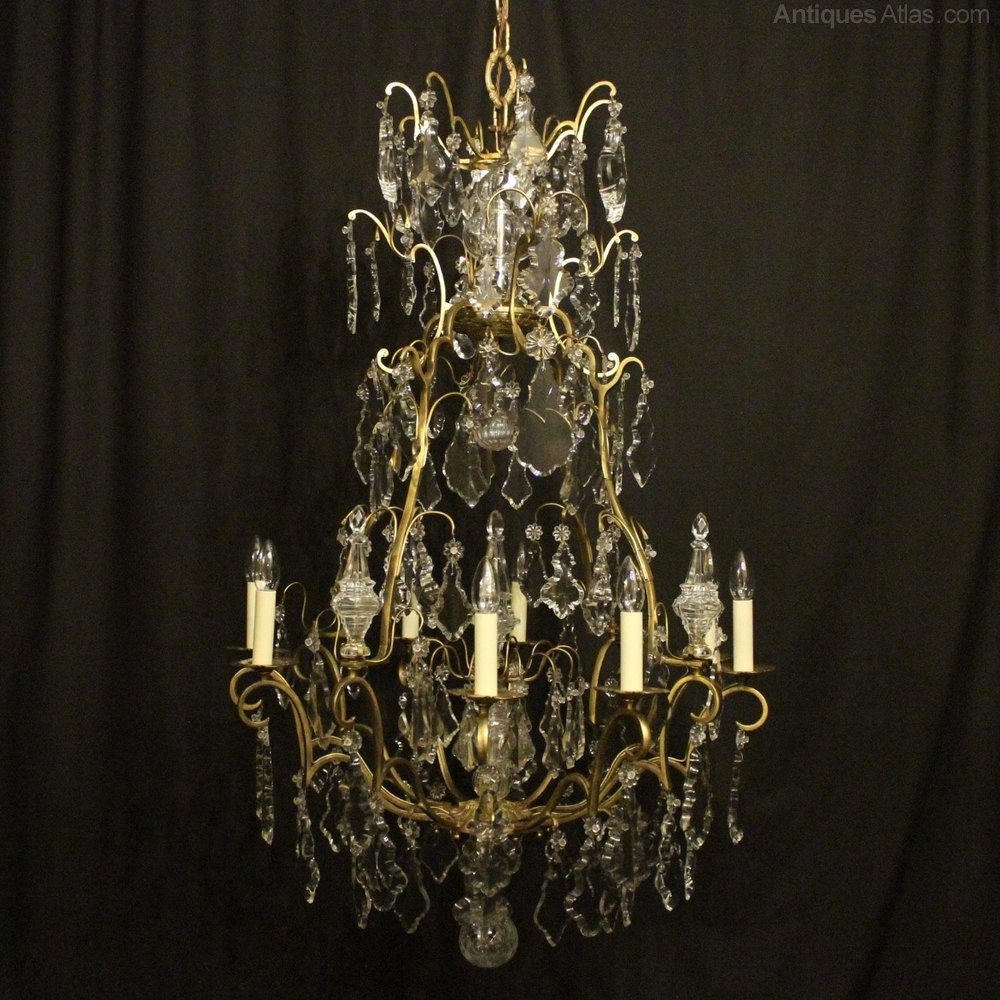 Antiques Atlas French Gilded 8 Light Antique Chandelier