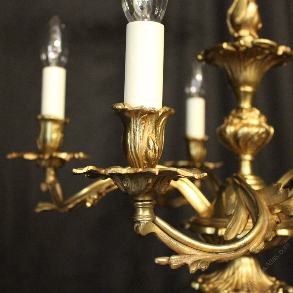Antiques Atlas French Gilded Bronze 5 Light Chandelier