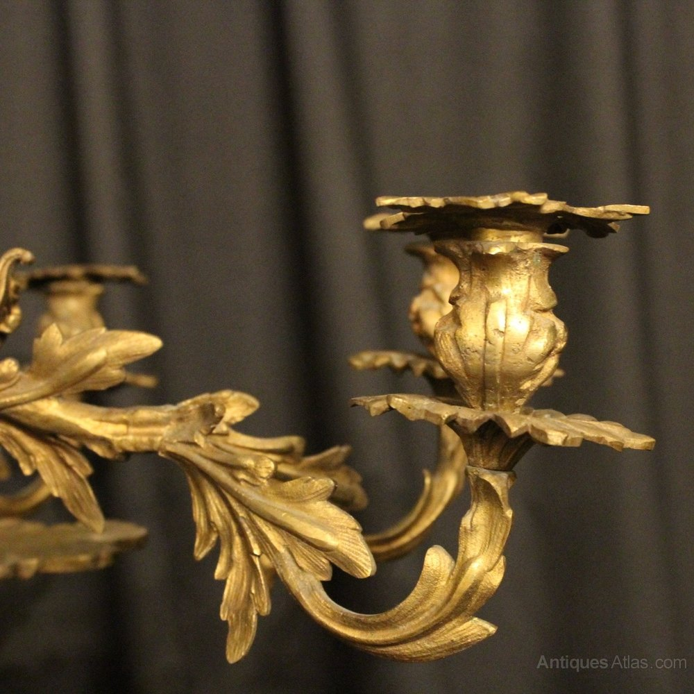 - Antiques Atlas - French Gilded Bronze 8 Light Candle Chandelier