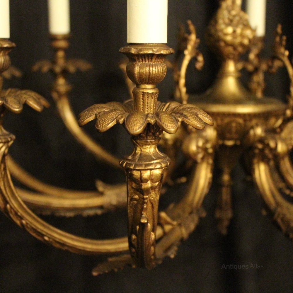 Antiques Atlas French Ornate Gilded 12 Light Chandelier