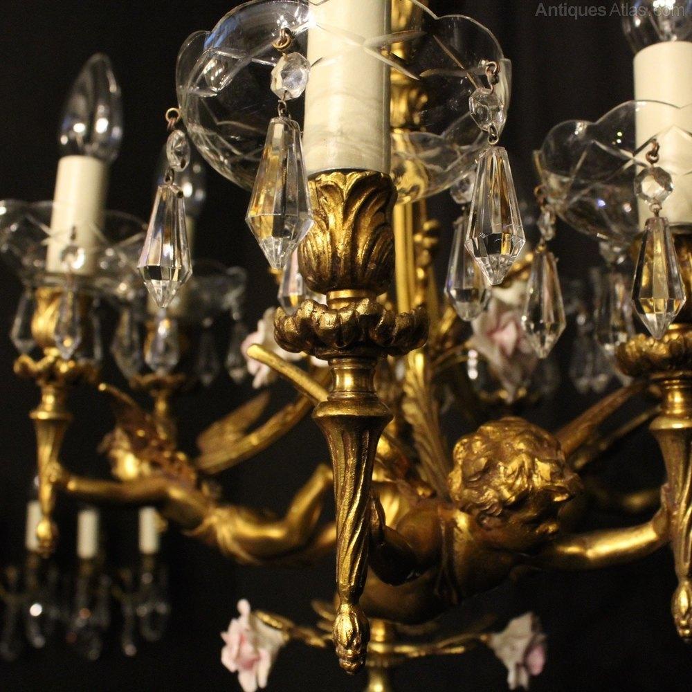 Antique bronze cherub chandelier chandelier designs antiques atlas french pair of bronze cherub chandeliers arubaitofo Gallery
