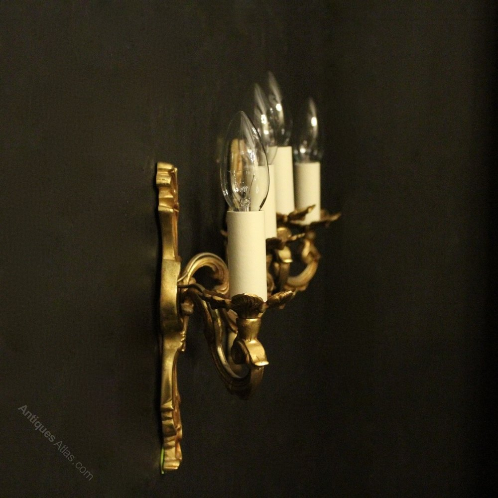 Antiques Atlas - French Pair Of Twin Arm Antique Wall Lights