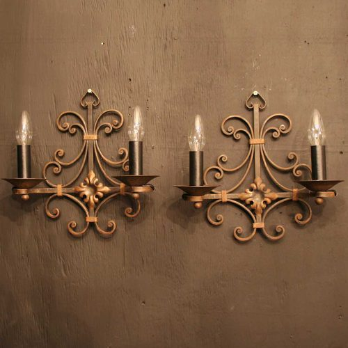 Antiques Atlas French Pair Of Wrought Iron Antique Wall