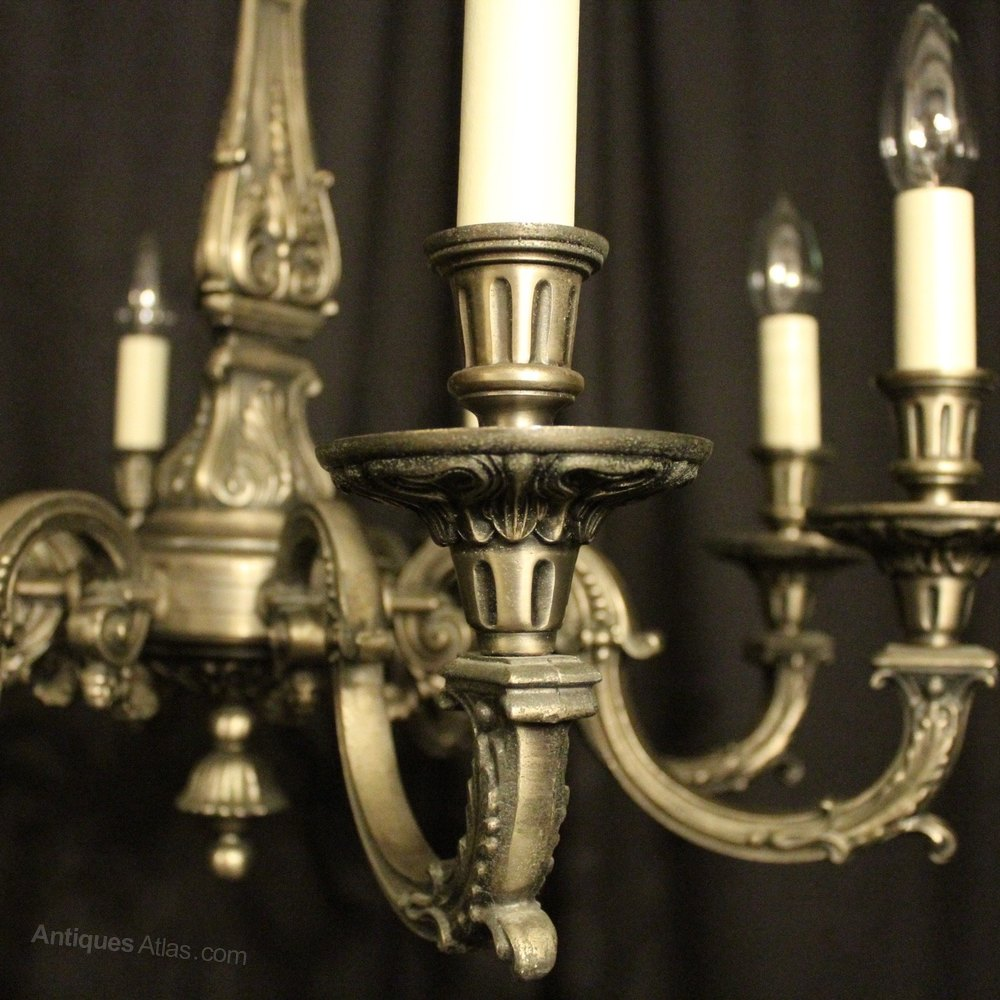 Antiques Atlas French Pewter Gilded 8 Light Chandelier