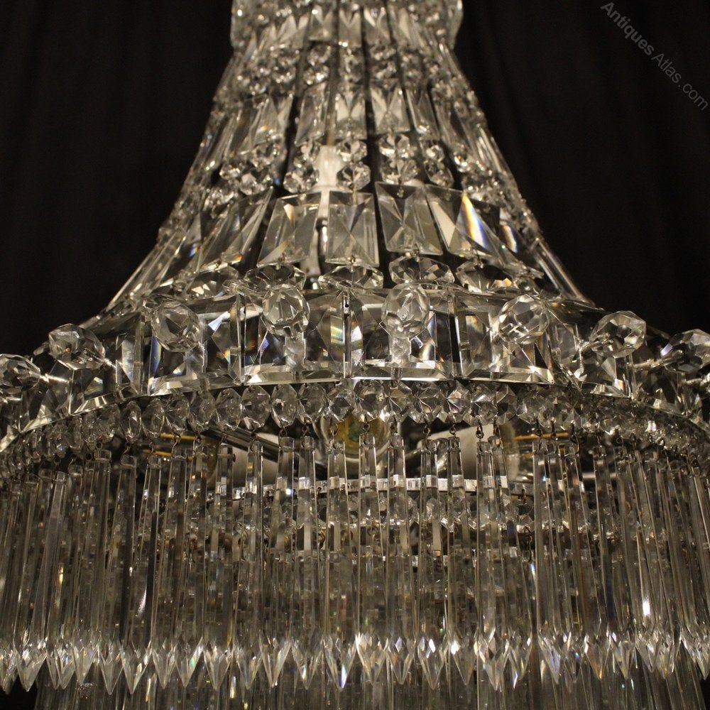 Awesome French Silver Light Waterfall Chandelier Antique Wall Chandeliers