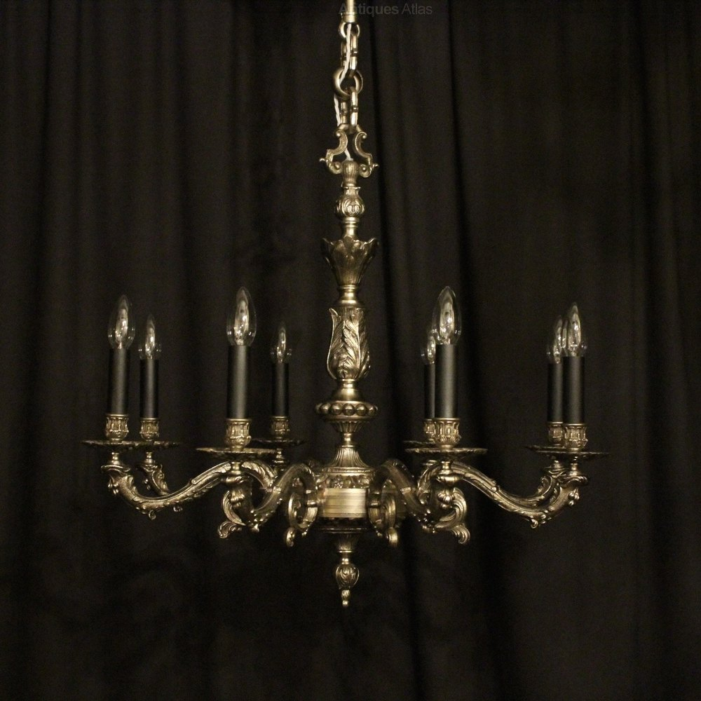 Antiques Atlas French Silver Gilded 8 Light Chandelier