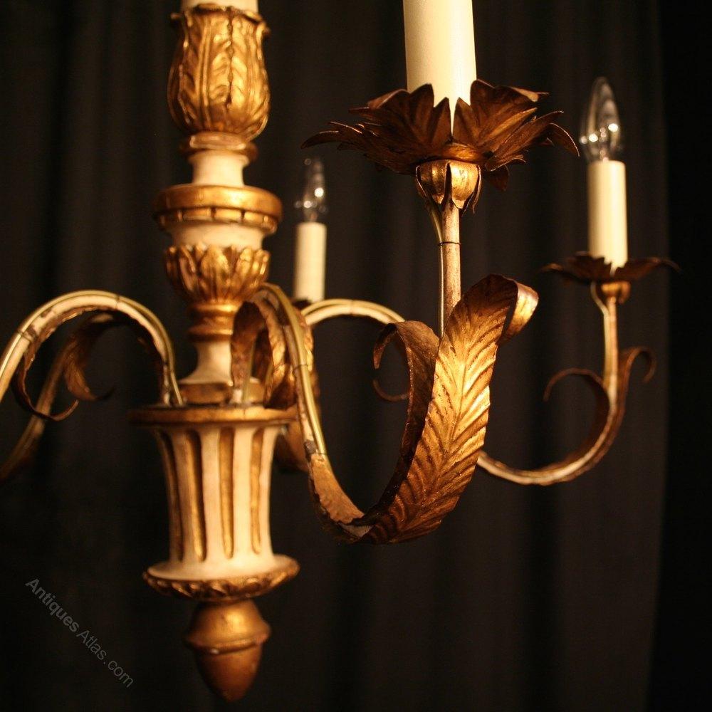 Cool Italian Light Giltwood Antique Chandelier Antique Lighting Antique Italian Chandeliers