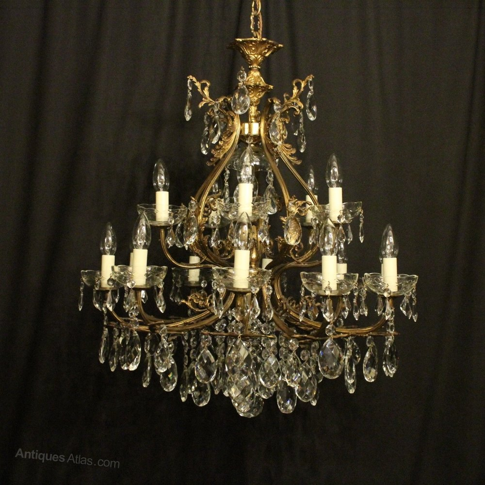 Antiques atlas italian gilded 16 light antique chandelier italian gilded 16 light antique chandelier arubaitofo Choice Image
