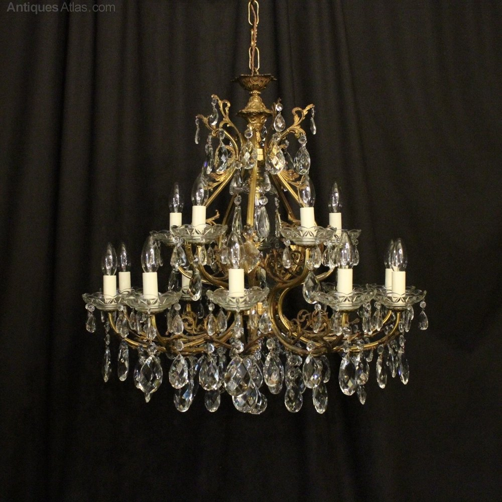 Antiques atlas italian gilded 16 light antique chandelier italian gilded 16 light antique chandelier aloadofball Choice Image