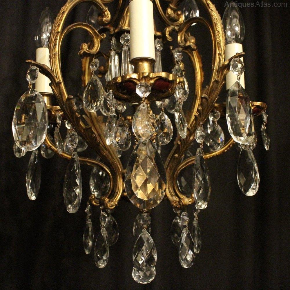 Italian Gilded 5 Light Antique Chandelier Antique Lighting, Antique Italian  Chandeliers ... - Antiques Atlas - Italian Gilded 5 Light Antique Chandelier
