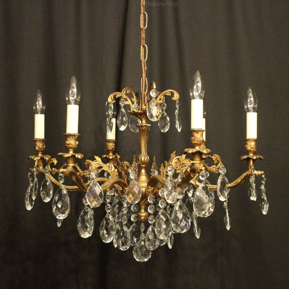 Antiques atlas italian gilded 6 light antique chandelier italian gilded 6 light antique chandelier arubaitofo Images