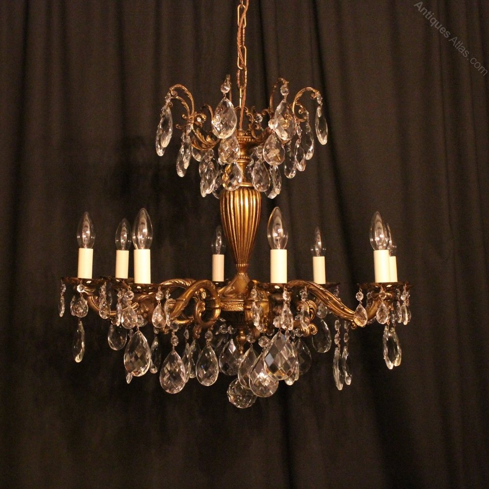 Antiques atlas italian gilded 8 light antique chandelier italian gilded 8 light antique chandelier arubaitofo Images