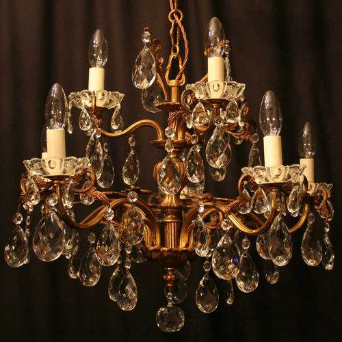 Italian Gilded 8 Light Antique Chandelier ... - Antiques Atlas - Italian Gilded 8 Light Antique Chandelier