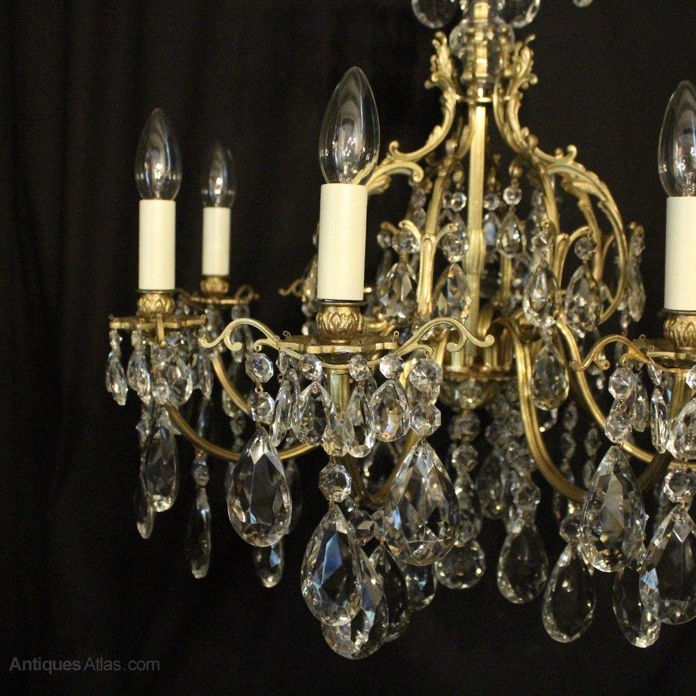 Italian Gilded 8 Light Cage Chandelier Antique Lighting, Antique Italian  Chandeliers ... - Antiques Atlas - Italian Gilded 8 Light Cage Chandelier