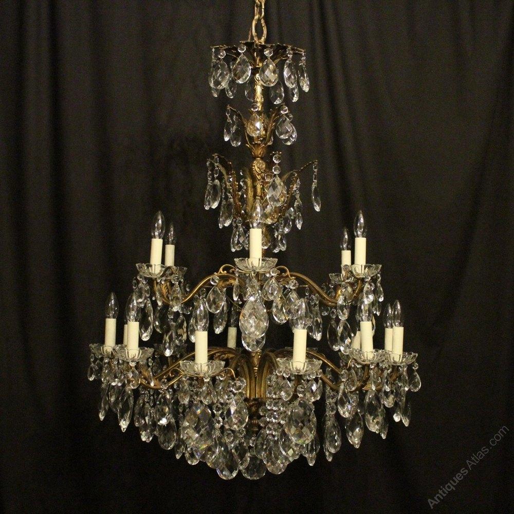 Antiques atlas italian gilt bronze 18 light antique chandelier italian gilt bronze 18 light antique chandelier aloadofball Image collections