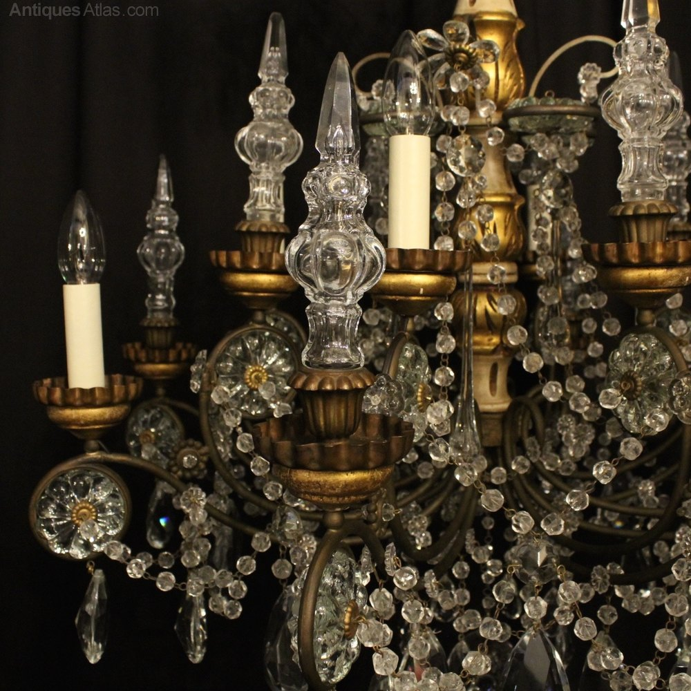 Antiques atlas italian giltwood 8 light antique chandelier italian giltwood 8 light antique chandelier antique lighting antique italian chandeliers aloadofball Gallery