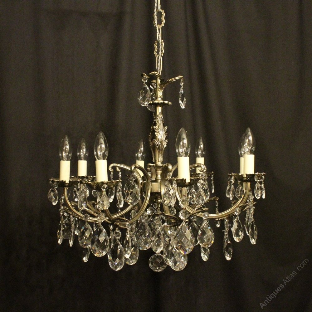 Antiques atlas italian silver gilded 8 light antique chandelier italian silver gilded 8 light antique chandelier arubaitofo Images
