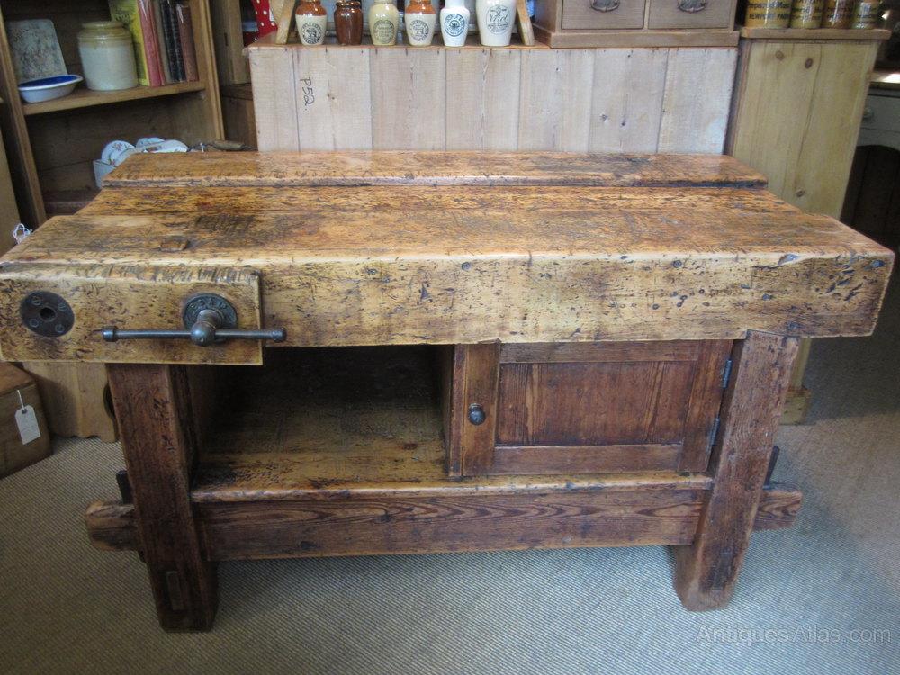 Kitchen Centre Island Old Work Bench Antiques Atlas