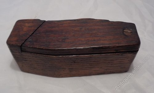 Antiques atlas rare georgian gothic coffin shaped grease for Short box shaped pot