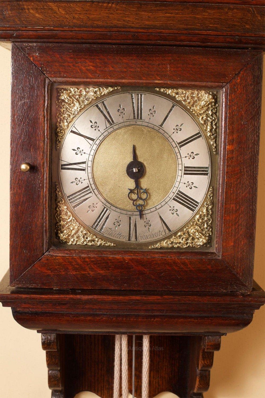 Antiques Atlas - George II Hooded Wall Clock
