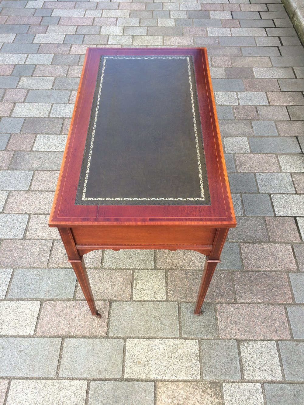 Edwardian Inlaid Mahogany Writing Desk Antiques Atlas