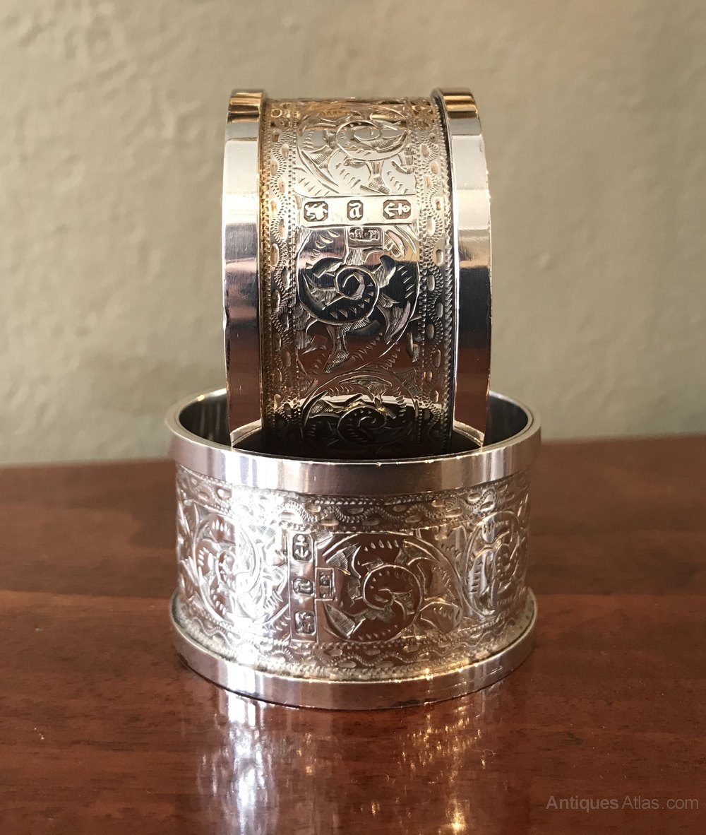 Antiques Atlas Pair Of Victorian Solid Silver Napkin Rings
