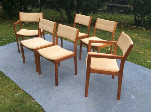 Set Of 4 And 2 D Scan Dining Chairs ...