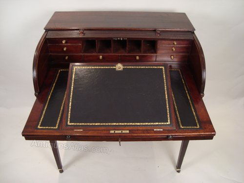 A Fine George Iii Roll Top Writing Desk