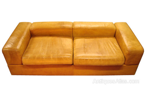 retro leather couch antiques atlas a very rare french retro leather sofa bed