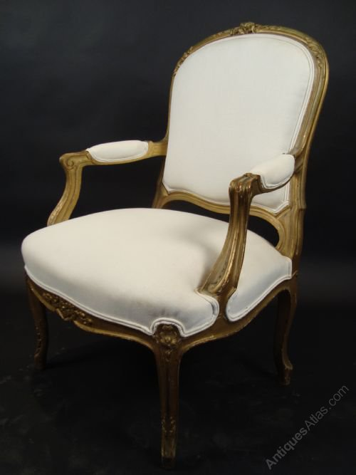 An Elegant 19 Century French Bergere Armchair