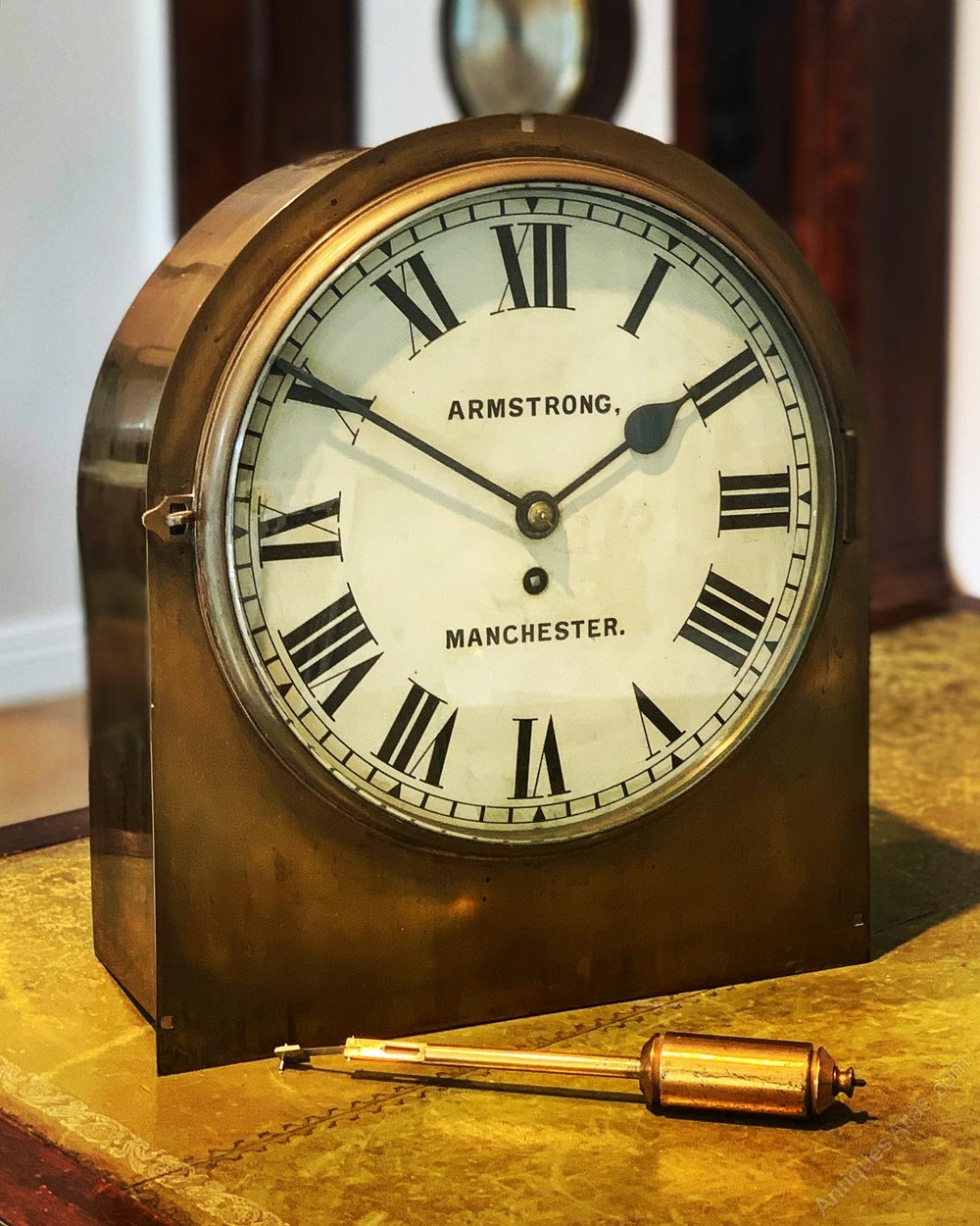 Antiques Atlas An Unusual Clock By Armstrong Of Manchester