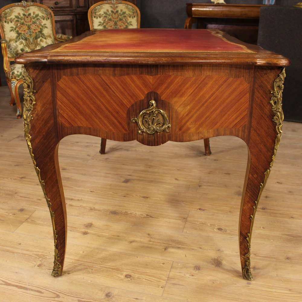 20th Century French Desk In Rosewood With Bronzes Antique Desks Desk  Writing Table ... - 20th Century French Desk In Rosewood With Bronzes - Antiques Atlas