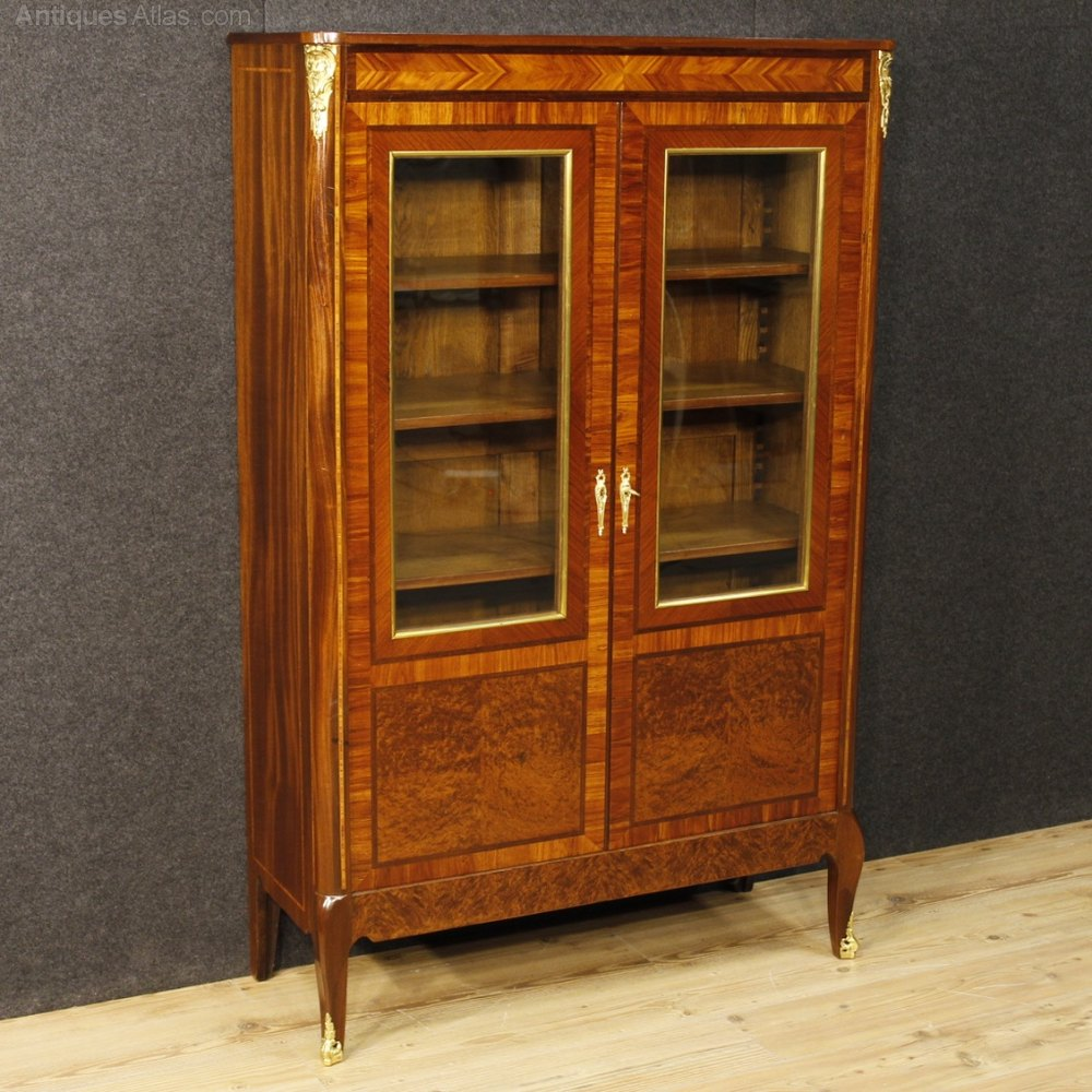 antiques atlas 20th century french inlaid vitrine in mahogany. Black Bedroom Furniture Sets. Home Design Ideas