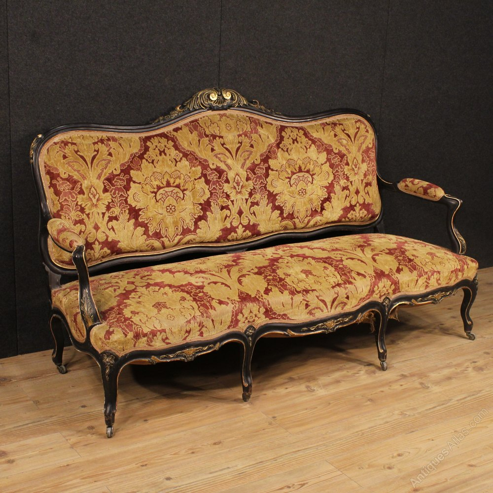 20th Century French Sofa In Damask Velvet Antiques Atlas