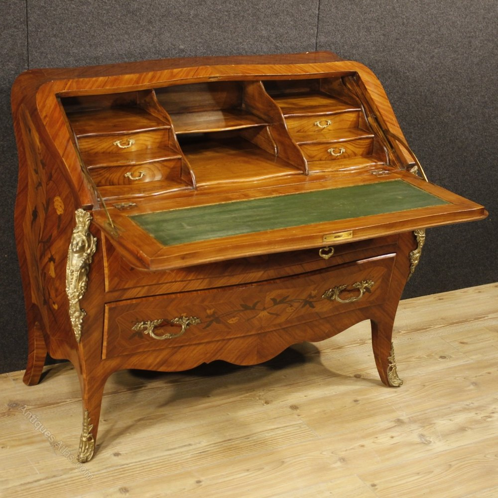 Antiques atlas 20th century inlaid bureau in louis xv style - Bureau style vintage ...