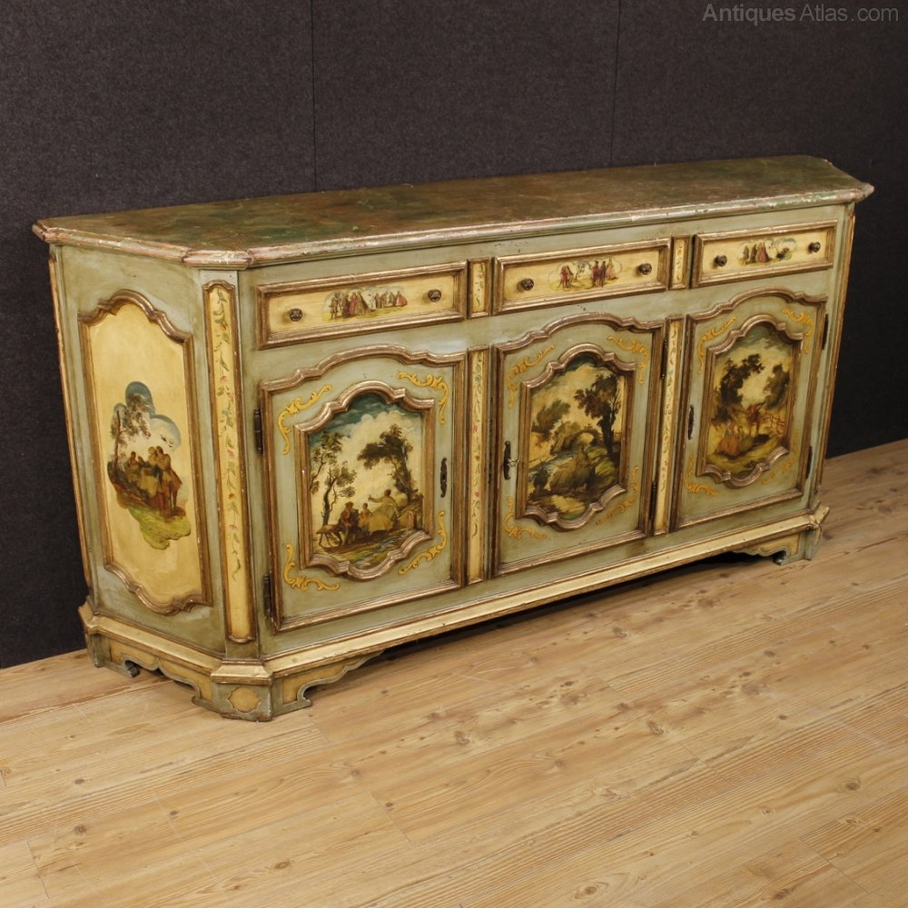 Antiques Atlas 20th Century Venetian Lacquered Sideboard