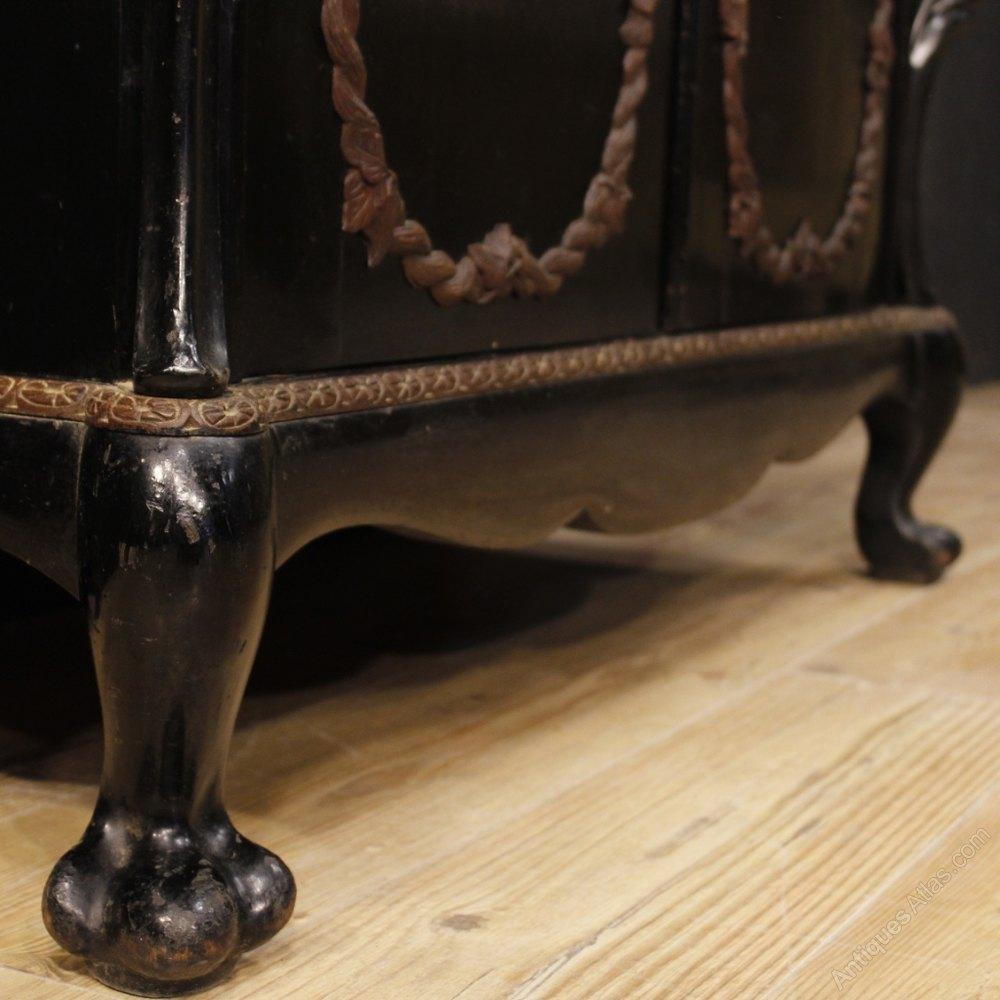 Ebonized Wood Furniture ~ Dutch sideboard in oak and ebonized wood antiques atlas