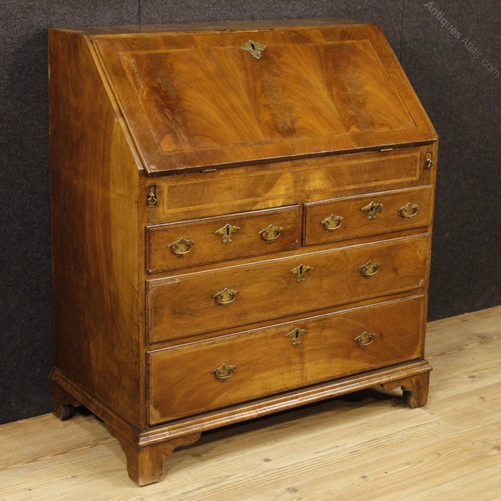 english bureau in inlaid wood from 19th century antiques atlas. Black Bedroom Furniture Sets. Home Design Ideas