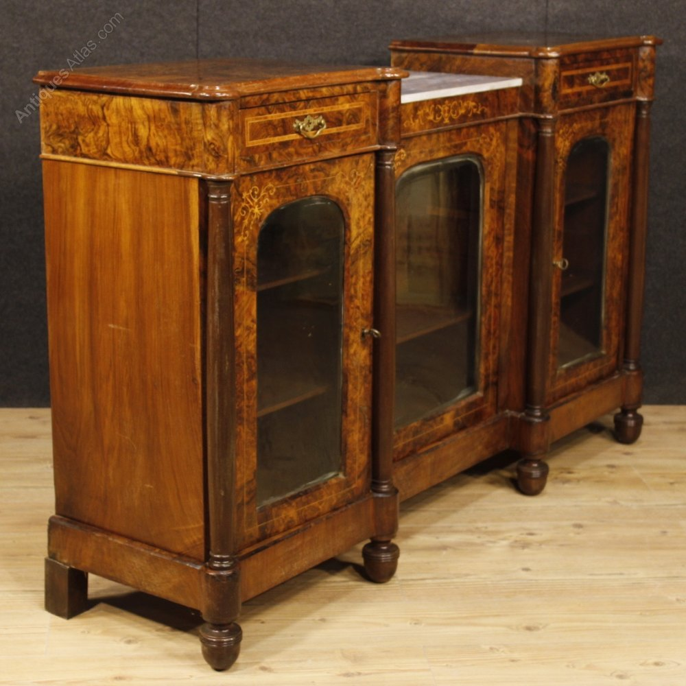 Antique Wooden Sideboards ~ English sideboard in inlaid wood antiques atlas