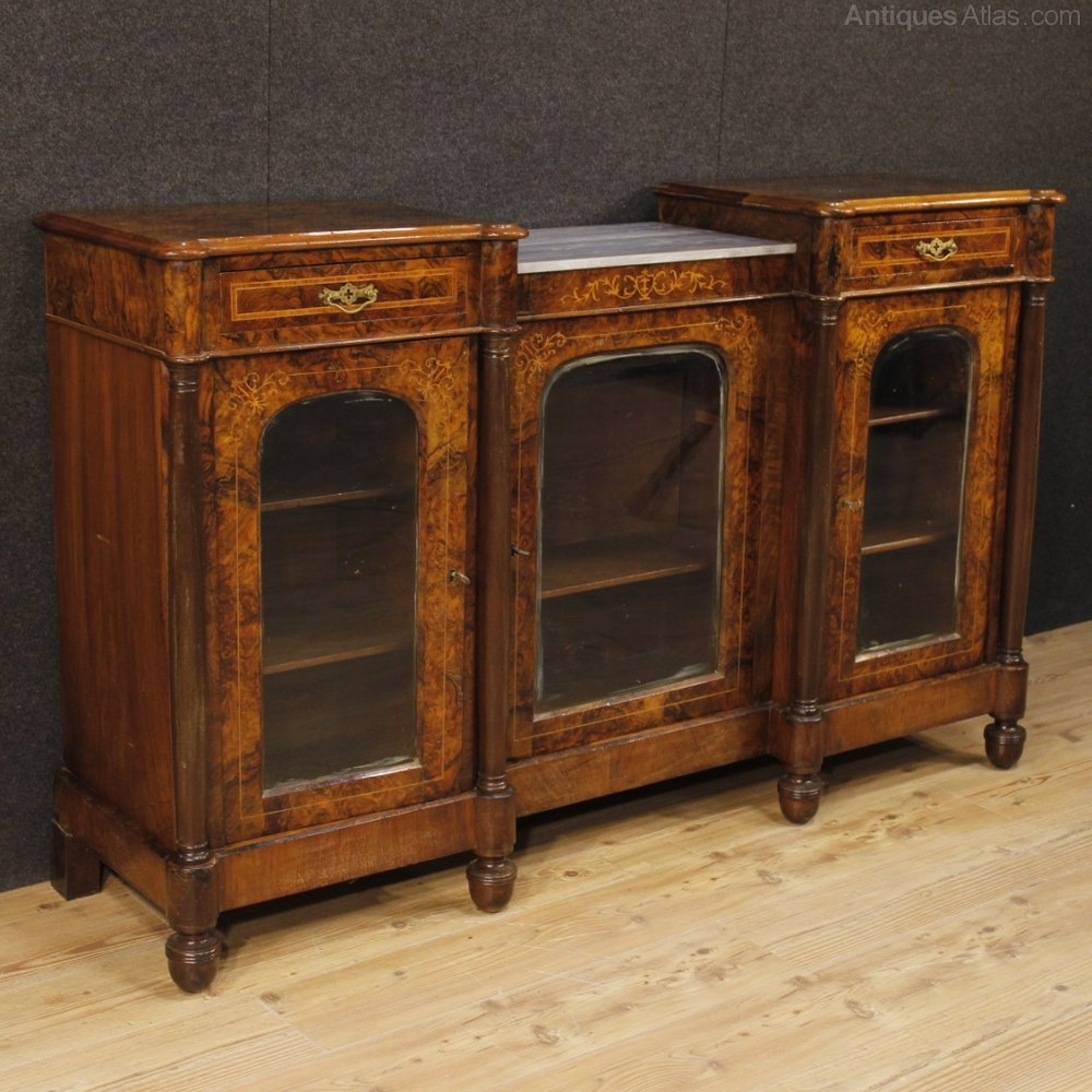 Beautiful Wood Sideboard ~ English sideboard in inlaid wood antiques atlas