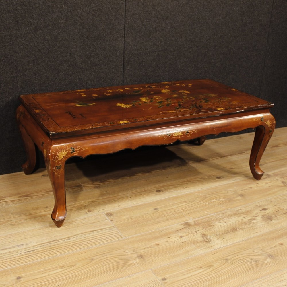 French Wood Coffee Table: French Coffee Table In Lacquered