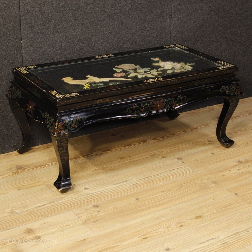 Antiques Atlas French Coffee Table Lacquered Painted Chinoserie
