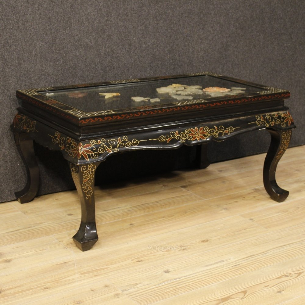 Say Coffee Table In French: French Coffee Table Lacquered, Gilt, Painted