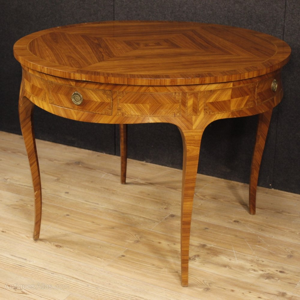 Antiques Atlas French Inlaid Leaf Dining Table In Louis