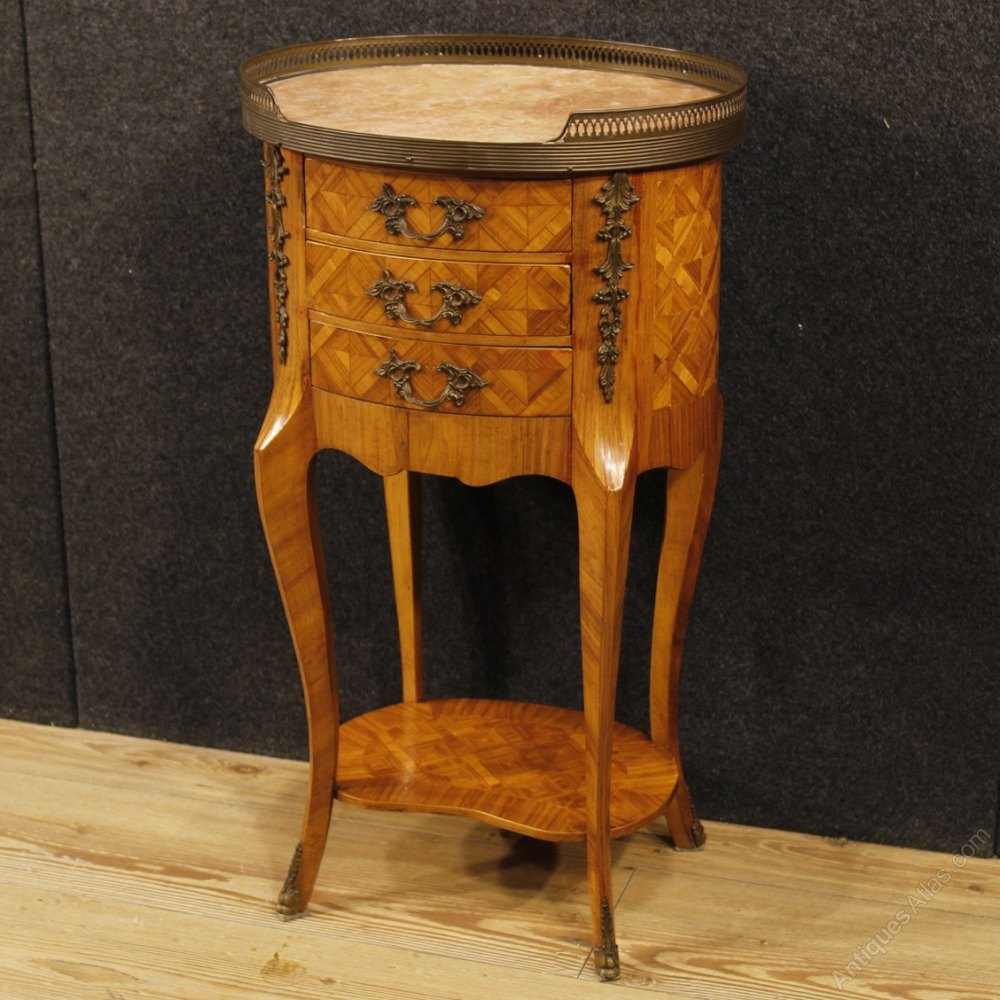 Antique Inlaid Marble Table : Antiques atlas french inlaid side table in wood with